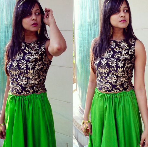 Want a green skirt but in darker shade! - SeenIt