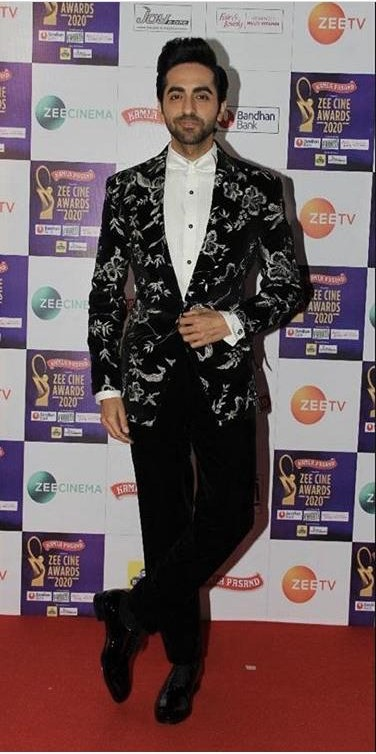 Yay or nay? Ayushmann Khurrana attends the Zee cine awards 2020 held in Mumbai - SeenIt