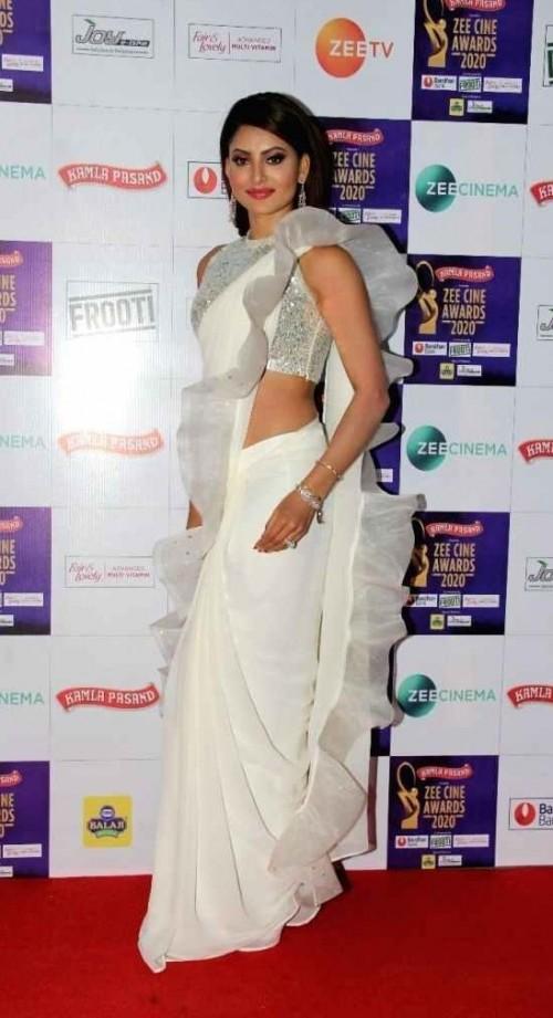 Yay or nay? Urvashi Rautela  attends the Zee cine awards 2020 held in Mumbai - SeenIt