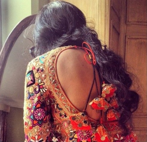 Too deep a back? But i think it gets covered with my long hair :P - SeenIt