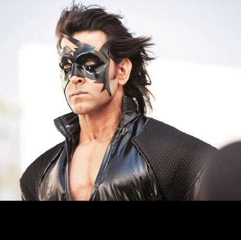 I'm looking for the back leather jacket Hrithik roshan is wearing in this pic & the mask aslo - SeenIt