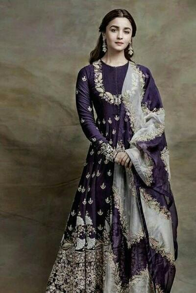 same outfit with earrings like alia bhatt - SeenIt