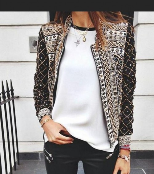 Looking for the embellished  jacket But different colo - SeenIt