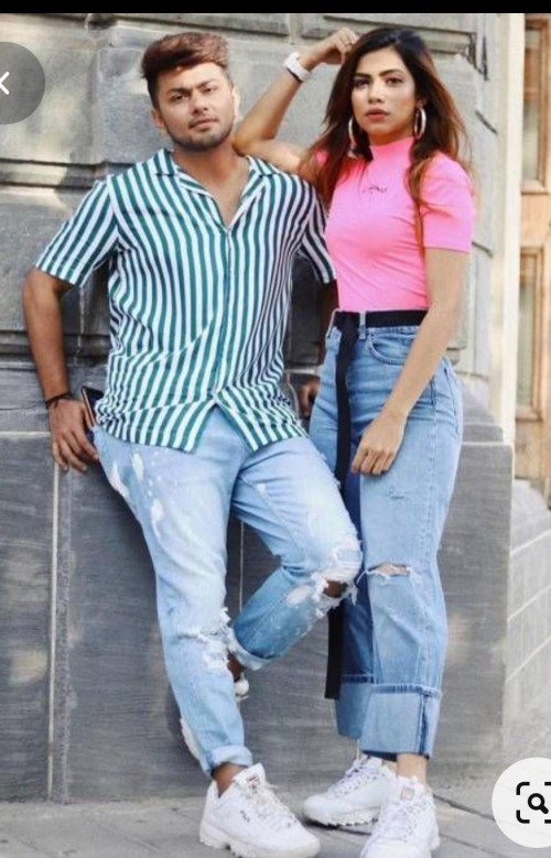 looking for same outfit like nagma mirajkar same pink top same jeans same shoes same belt and accessories 🐬👀❤️ - SeenIt