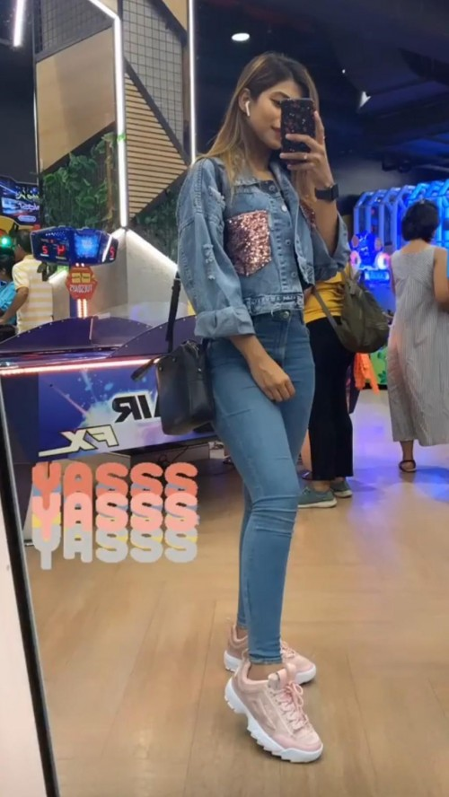 looking for same denim jacket and shoes 💞 - SeenIt