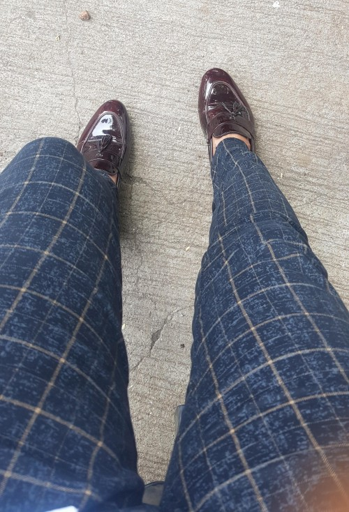 looking for same box black formal pants and brown hill shoes - SeenIt