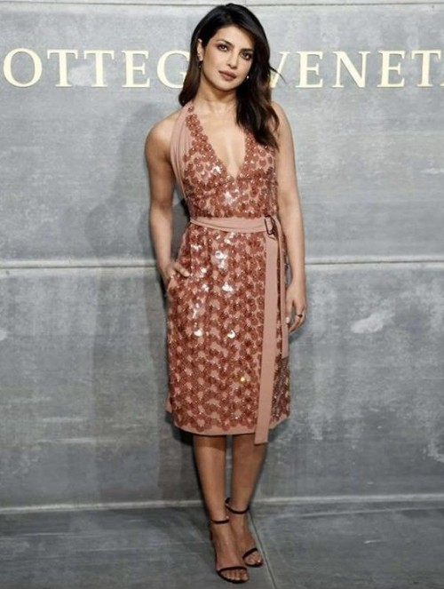 Yay or nay? Priyanka Chopra spotted wearing a formal midi dress At an event - SeenIt