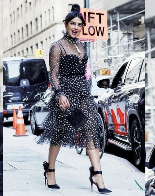 Yay or nay? Priyanka Chopra spotted wearing a dotted midi dress Outfit - SeenIt