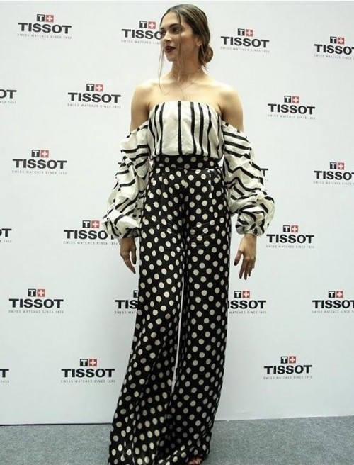 Yay or nay? Deepika Padukone Spotted wearing a white and black two piece outfit at an event - SeenIt