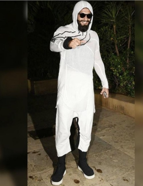 Yay or nay? Ranveer Singh spotted wearing an all white attire - SeenIt
