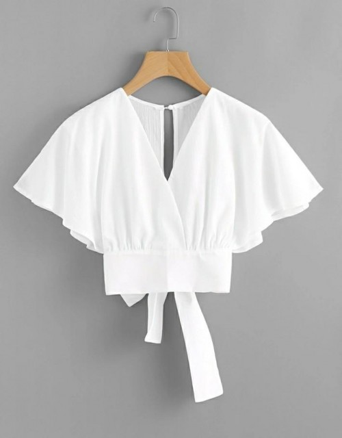 I'm finding this white crop blouse - SeenIt