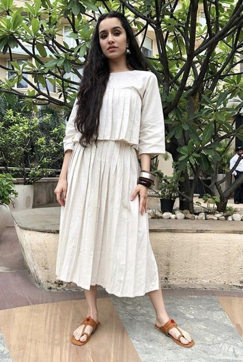 Yay or nay? Shraddha a Kapoor wearing a casual chic skirt and top coord set - SeenIt