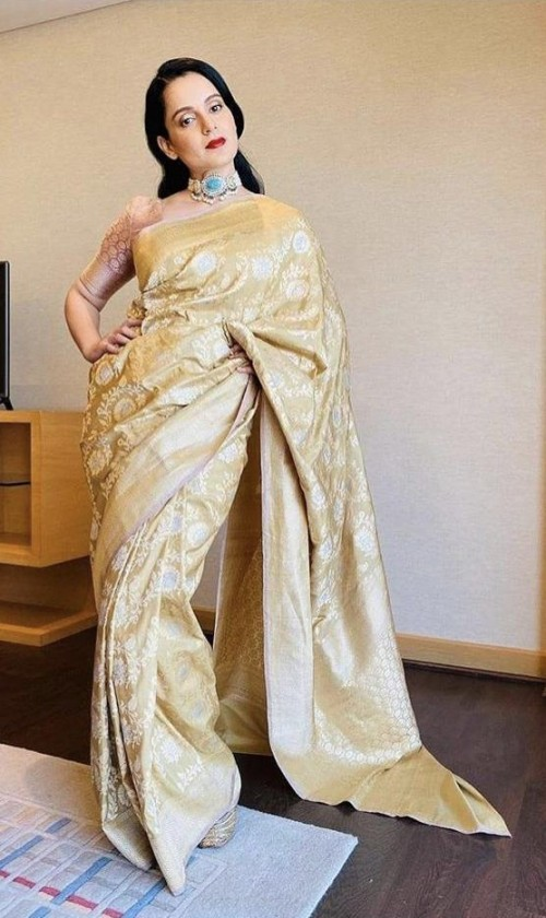 Looking for a similar Banarasi saree worn by Kangana Ranaut - SeenIt