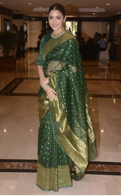Looking for a similar Banarasi saree worn by Anushka Sharma - SeenIt
