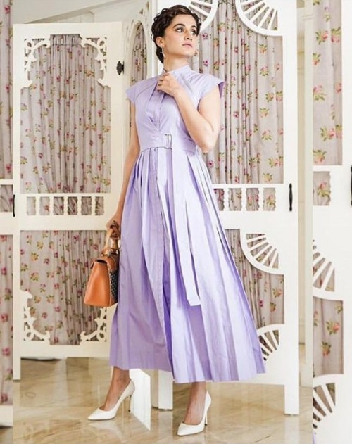 Yay or nay? Taapsee Pannu wearing a lilac outfit recently - SeenIt