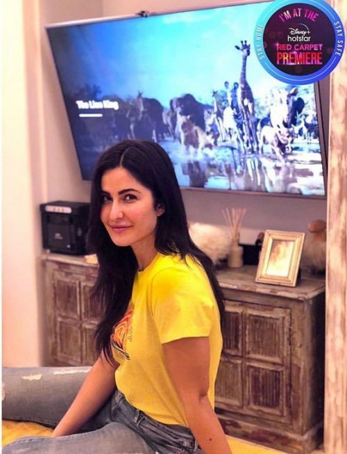 Need a similar yellow tee like Katrina Kaif is wearing - SeenIt