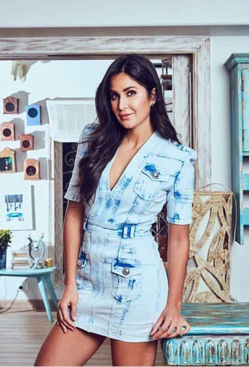 Yay or nay? Katrina Kaif spotted wearing a blue denim short dress - SeenIt