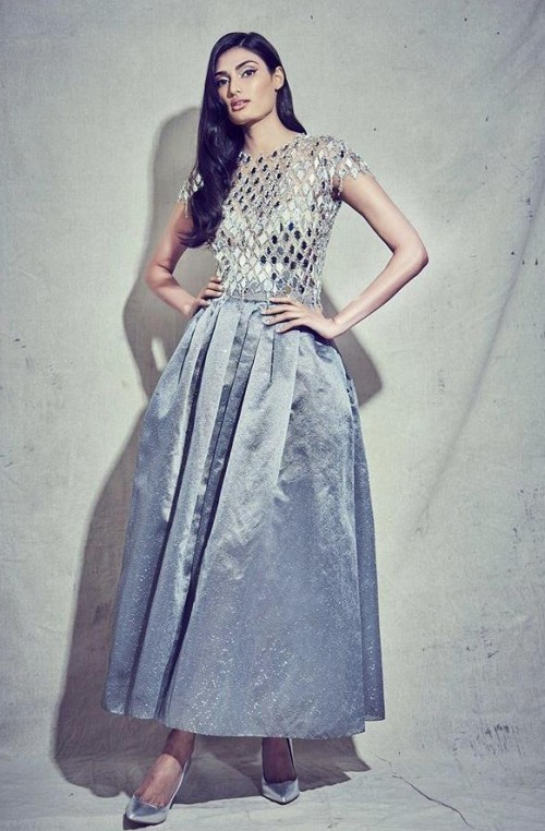 Yay or nay? Athiya Shetty seen wearing a metallic midi skirt With a formal top - SeenIt