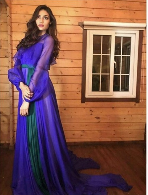 Yay or nay? Athiya Shetty wearing a purple Bibhu Mohapatra outfit - SeenIt