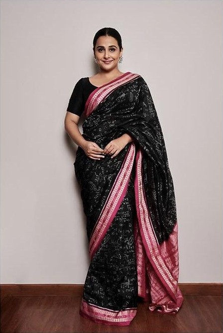 Help me find a similar saree like Vidya Balan is wearing at the E-promotions - SeenIt