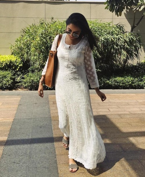 i am lookin for this same chikankari dress as prajakta koli - SeenIt