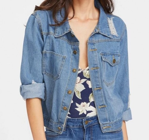 im looking for ripped denim jacket - SeenIt