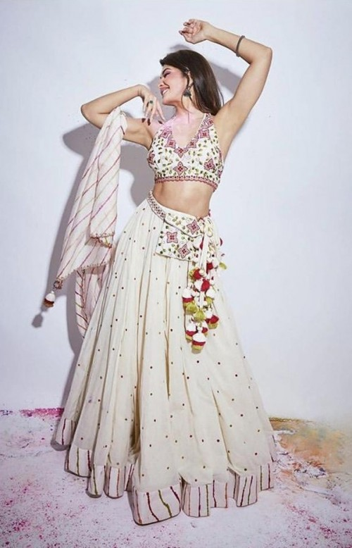 Yay or nay? Jacqueline Fernandez spotted wearing a white lehenga - SeenIt