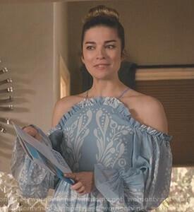 Looking for a similar blue dress online like Alexis is wearing - SeenIt
