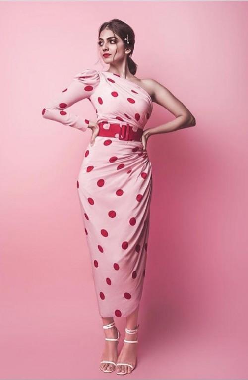 Yay or nay? Malavika Mohana spotted wearing a polka dot printed dress - SeenIt