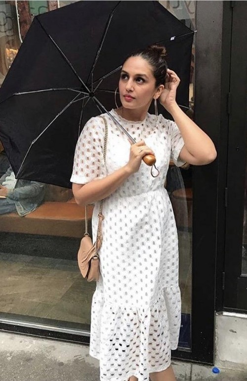 Yay or nay? Huma Quereshi wearing a white midi dress recently - SeenIt