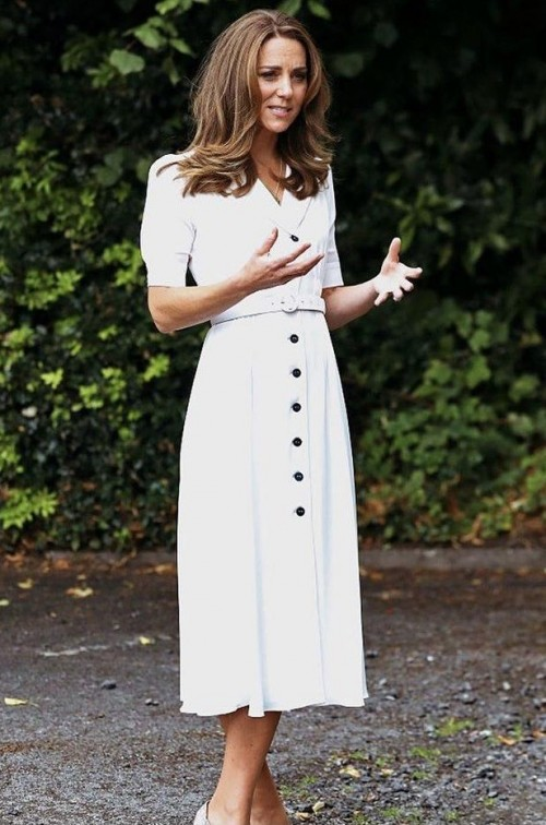 Yay or nay? Kate Middleton spotted wearing a white summer dress recently - SeenIt