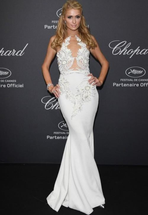 Paris Hilton at the Chopard Wild Party at Cannes 2016. - SeenIt