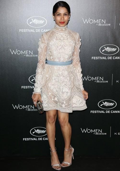 Freida Pinto in Elie Saab at Cannes 2016. - SeenIt