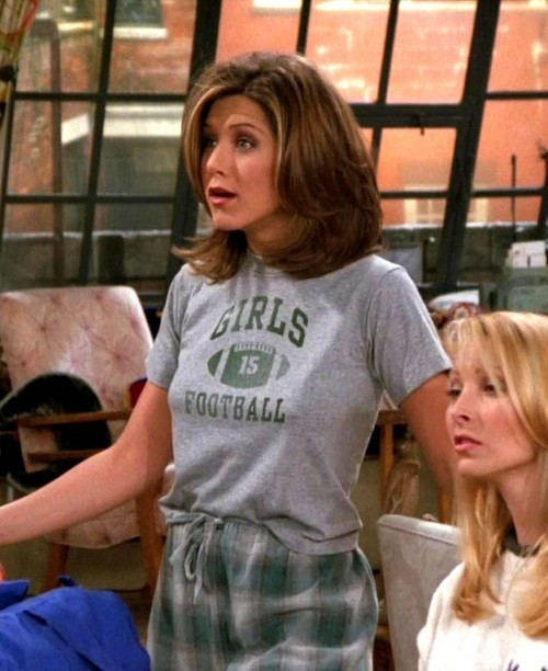 Really want this pyjama top  and bottoms that jennifer aniston is wearing as rachel green - SeenIt