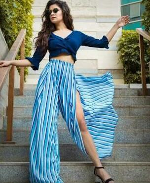 i am looking for similar blue striped palazzo pants as avneet kaur - SeenIt