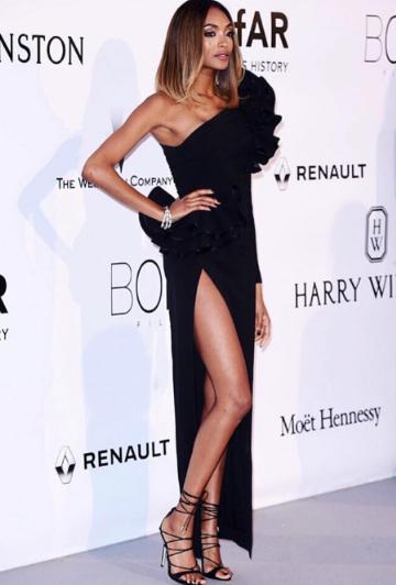Jordan Dunn wearing Dsquared2 at the amfAR gala in Cannes. - SeenIt