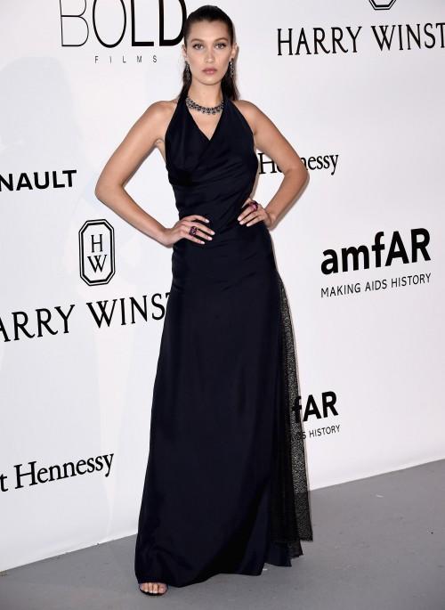 Bella Hadid wearing Dior at Cannes amfAR gala 2016. - SeenIt