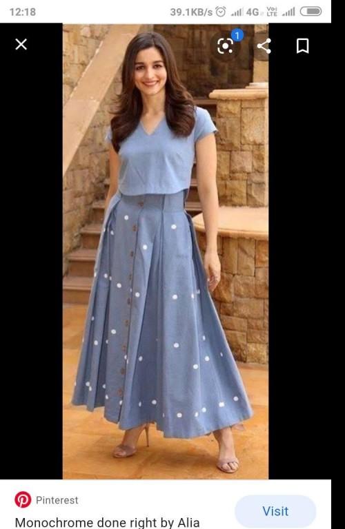 Similar top and skirt pls - SeenIt