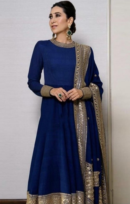 Yay or nay? Karisma a Kapoor spotted wearing a blue Sabyasachi outfit - SeenIt