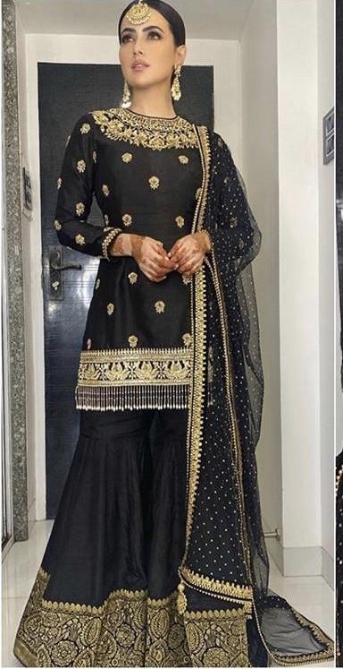 Help me find a similar outfit like Sana Khan is wearing - SeenIt