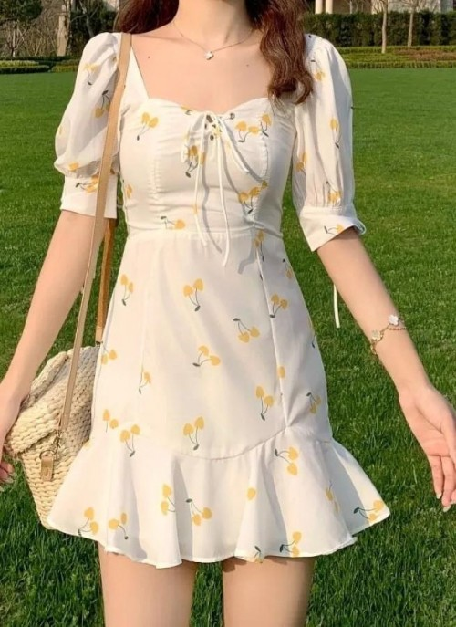 same print short dress - SeenIt