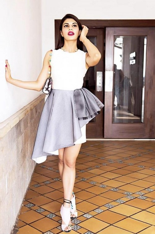 Yay or nay? Jacqueline Fernandez seen wearing a Runway2 street outfit - SeenIt