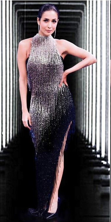 Yay or nay? Malavika Arora wearing a black sequin Youssef Aljasmi gown - SeenIt