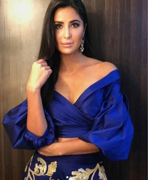 Looking for this exact blue blouse like katrina kaif - SeenIt