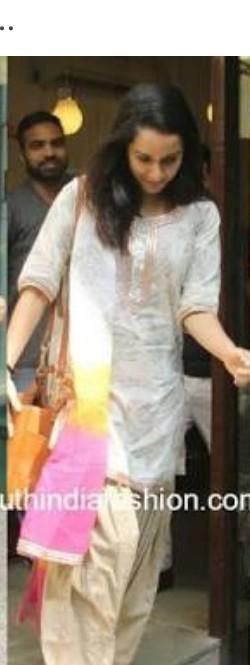 I am looking for this similar kurta and salwar like shraddha kapoor is wearing - SeenIt
