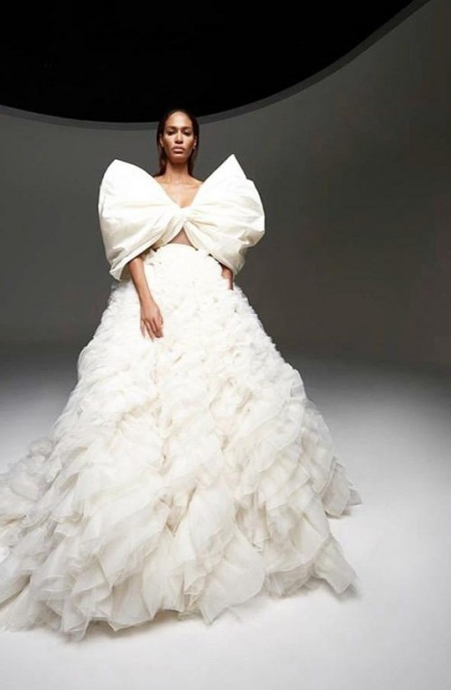 Yay or nay? Joan Smalls Seen wearing a white Giambattistavalli Paris gown recently - SeenIt