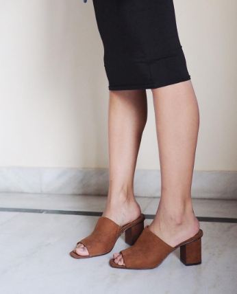 Looking for similar brown open toed block heel shoes please! - SeenIt