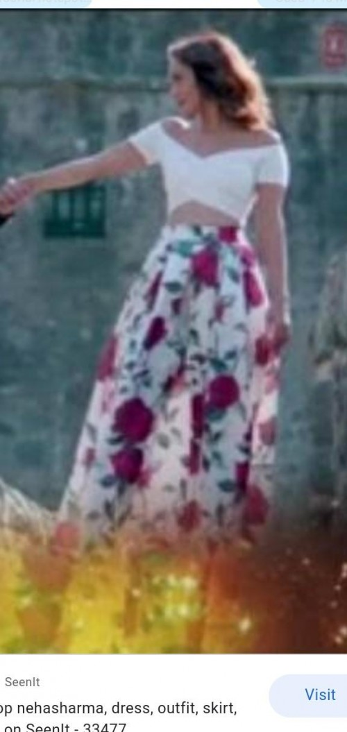 I am looking for white skirt with red print - SeenIt