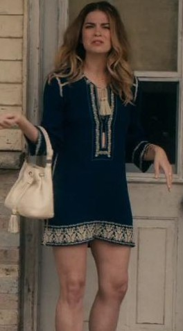 I am looking for this dress Alexis Rose wore on an episode of Schitts Creek. I tried looking online and couldn't find anything like it!  thank you :) - SeenIt