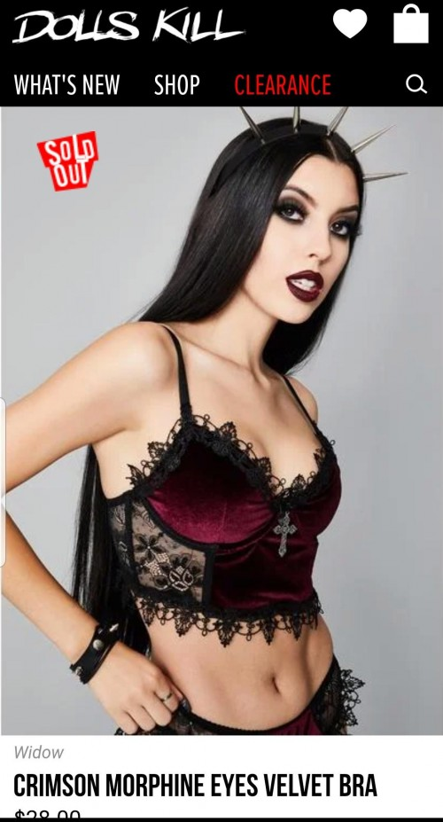 Looking for a top similar to this crimson bra with lace from Dolls Kill - SeenIt